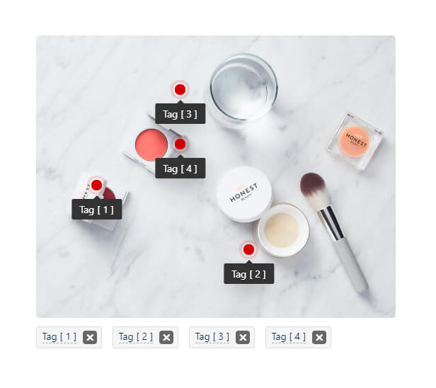 Tagging Photo | Tag photos with point and show tooltip - 1